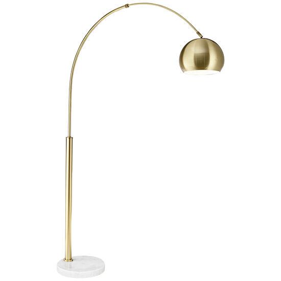 Basque Floor Arc Lamp in Gold