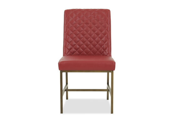 "Modern 20"" Tufted Dining Chair in Red"