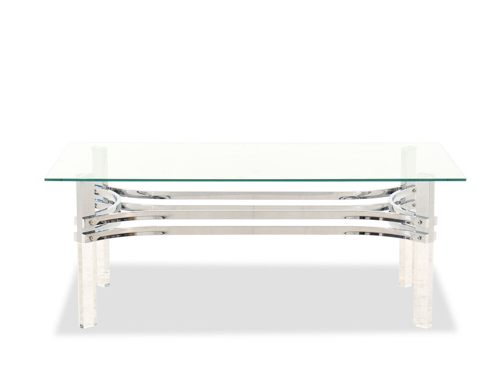 Contemporary Rectangular Coffee Table in Chrome