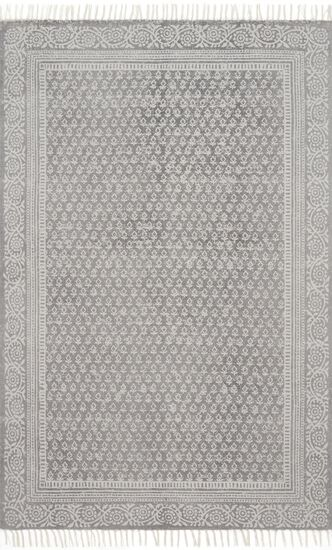 """Transitional 2'-3""""x3'-9"""" Rug in Grey"""