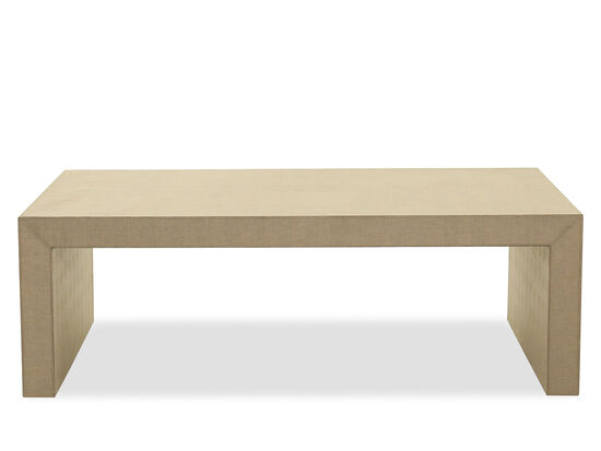 Rectangular Casual Cocktail Table in Brown