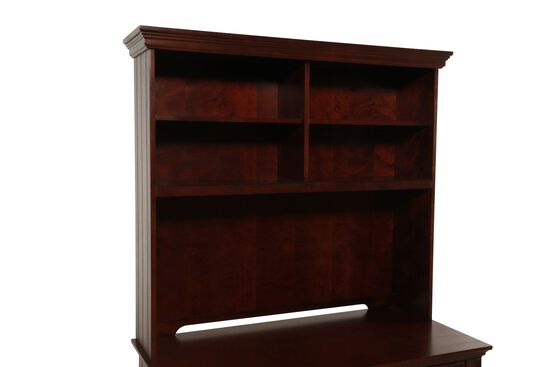 Four-Shelf Casual Desk Hutchin Chocolate Brown
