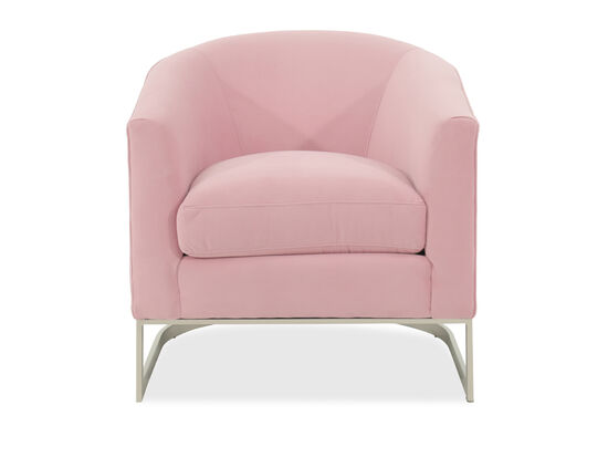 "Mid-Century Modern 31"" Accent Chair in Pink"