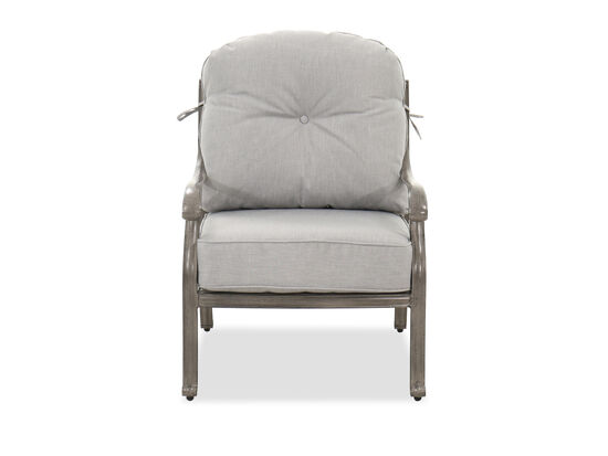 High-Back Casual Patio Club Chair in Gray