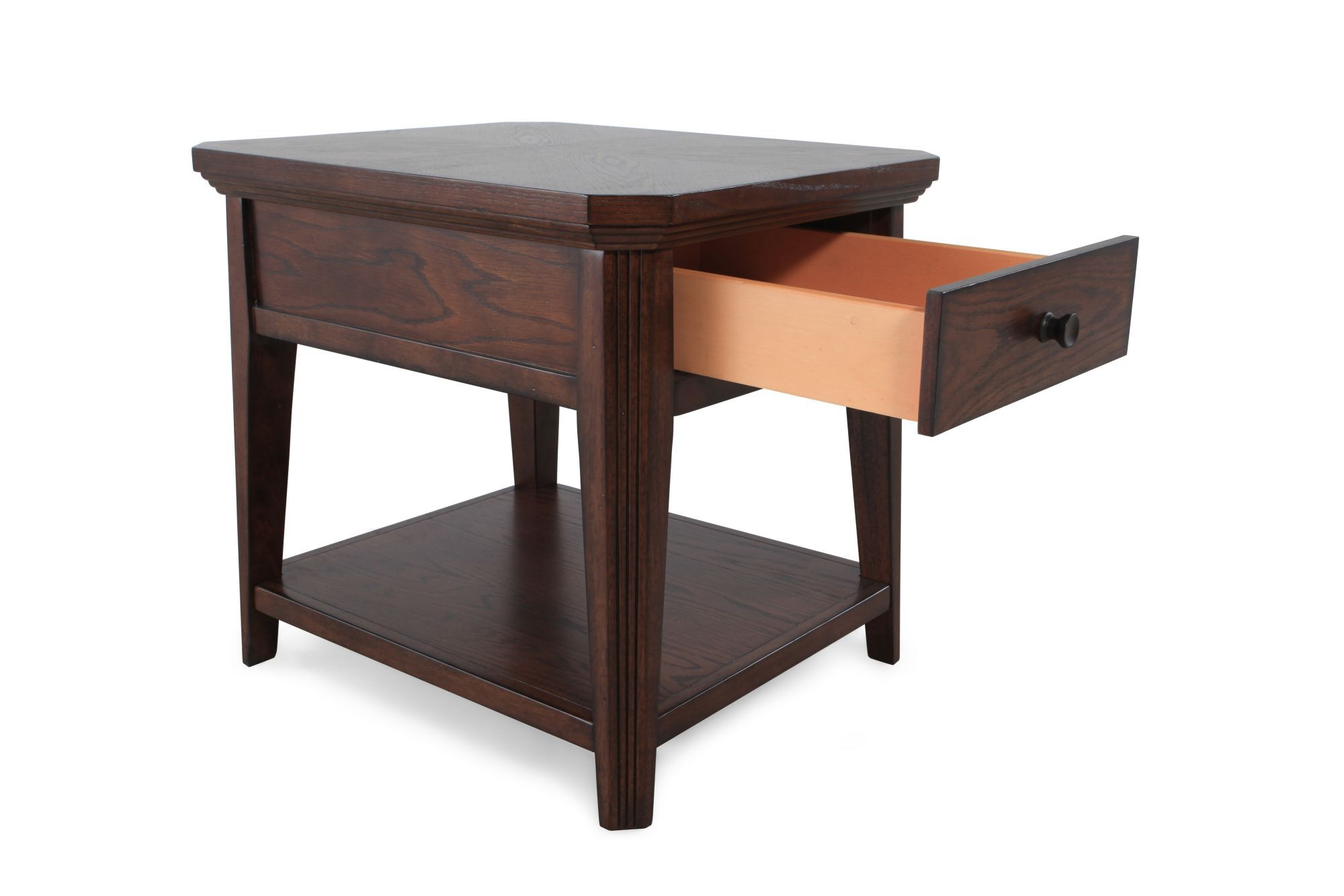 Square One Drawer Traditional End Table In Artisan Oak Mathis