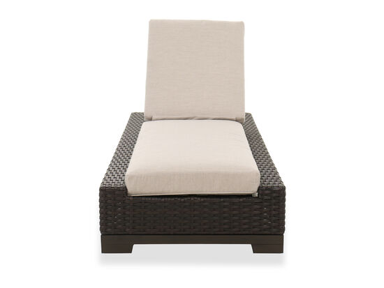 Contemporary Patio Chaise Lounge Chair in Brown