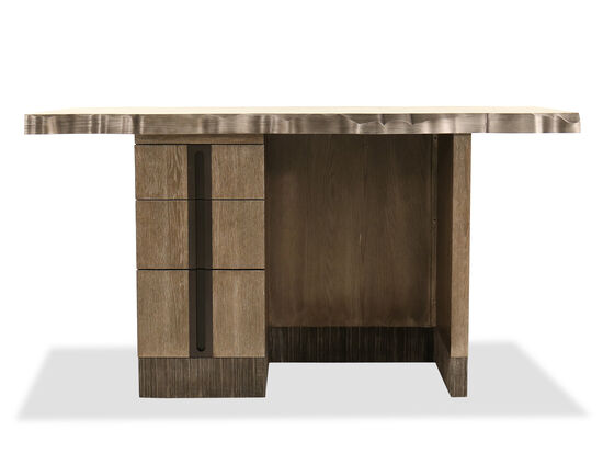 "Casual 34"" Three-Drawer Kitchen Island in Bronzy Facet"