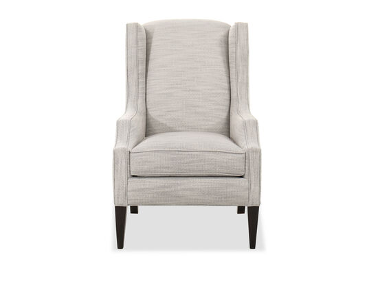"""Transitional 28.5"""" Wing Chair in White"""