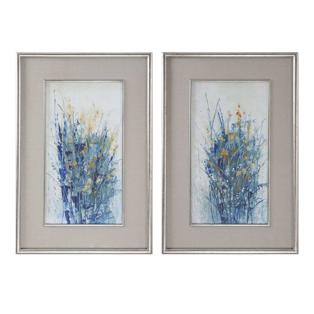 Two-Piece Framed Floral Wall Art Set