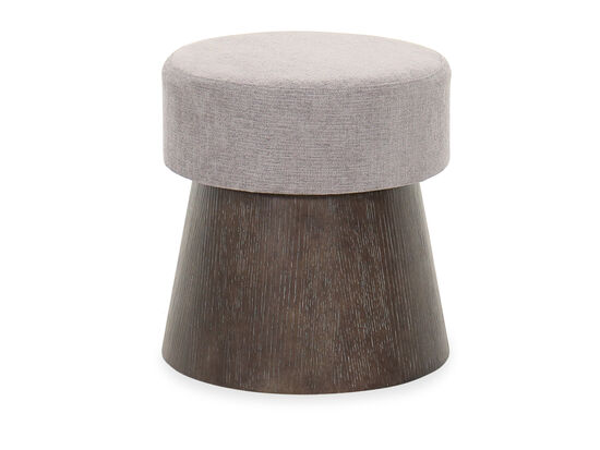 19.5'' Casual Round Bench in Cerused Charcoal