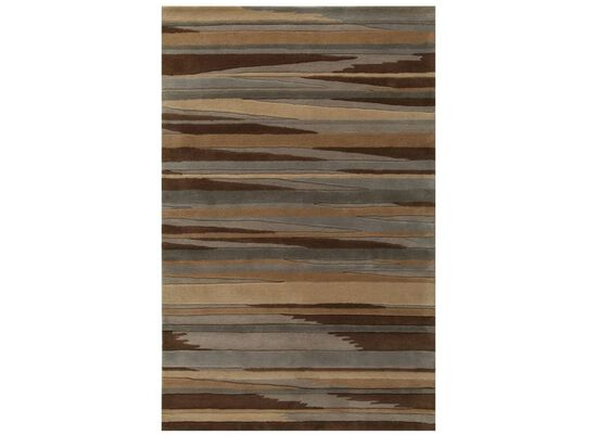 "Lb Rugs|Br-11  (br)|Hand Tufted Wool 2'-6"" X 8'