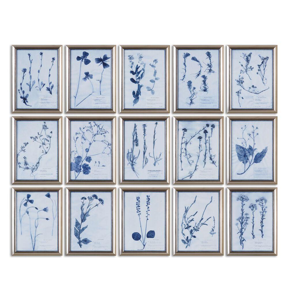 15-Piece Framed Floral Wall Art Set