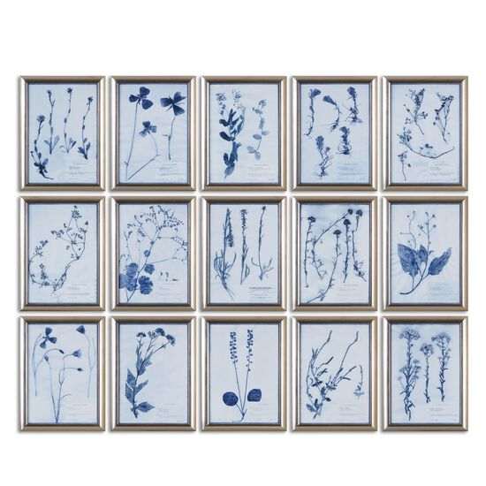 15-Piece Framed Floral Wall Art Set
