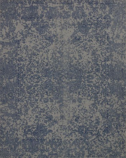 "Traditional 2'-3""x3'-9"" Rug in Blue"