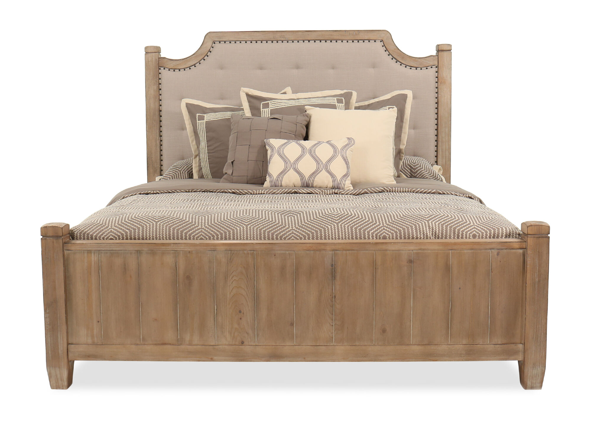 60db86d86c4 Casual Tufted Bed in Cypress