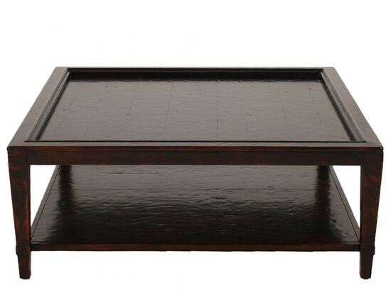 Square Inset-Top Traditional Cocktail Tablein Molasses