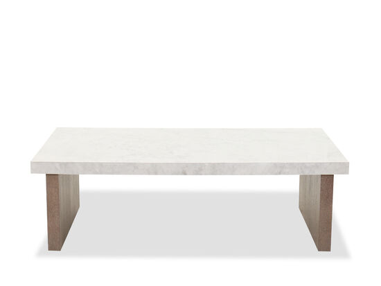 Transitional Rectangular Cocktail Table in Flaky Oak