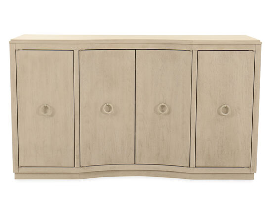 Four-Door 64'' Credenza in Brown