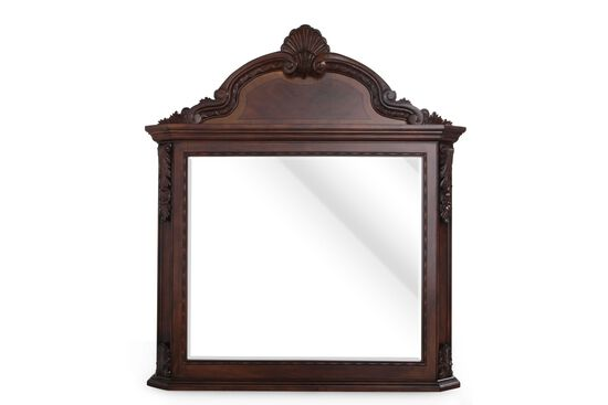 "53"" Traditional Beveled Mirror in Dark Pomegranate"