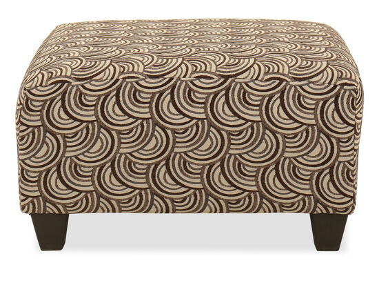 "28.5"" Rectangular Transitional Ottoman in Brown"