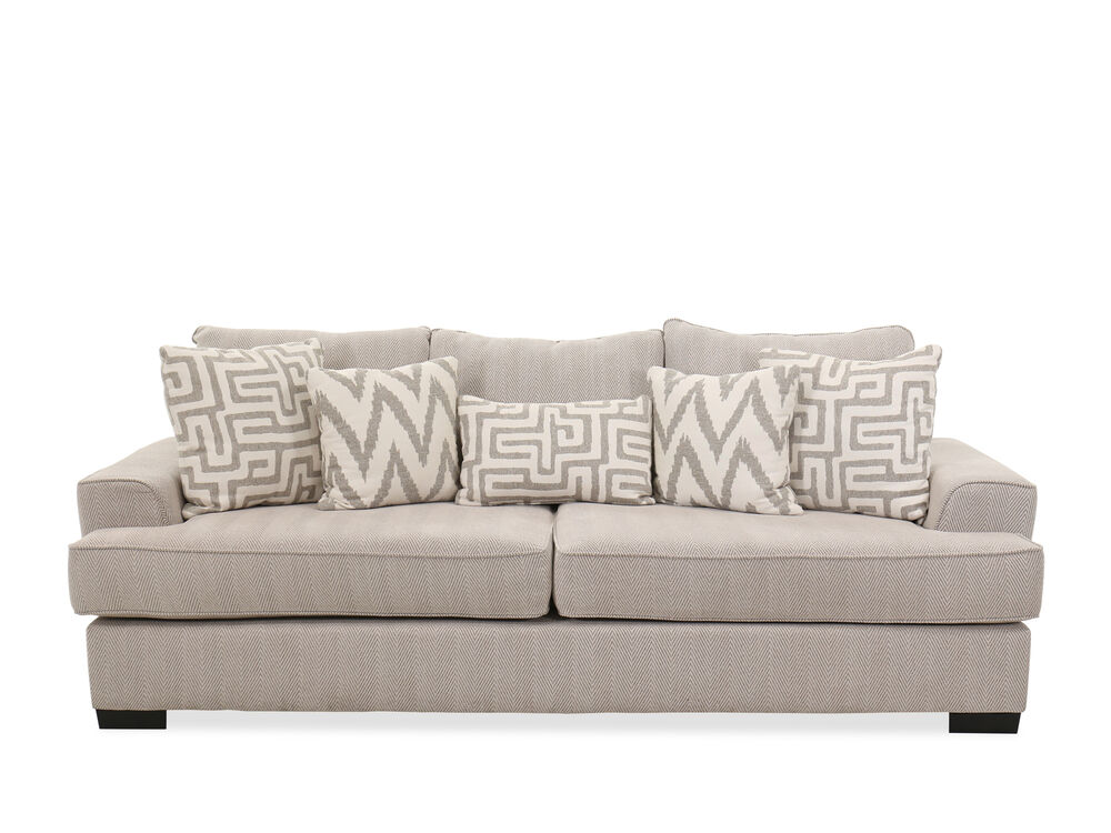 "Contemporary Textured 101"" Sofa in Greige"