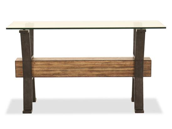 Rectangular Sofa Table in Toasted Nutmeg