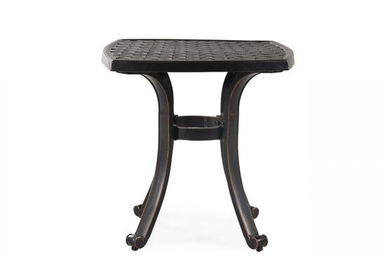 Transitional Aluminum Square End Table Nbsp