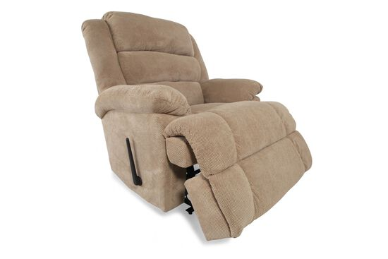 """Wall Saver Contemporary 44"""" Recliner in Tan"""