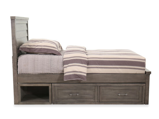 Two-Drawer Transitional Youth Underbed Storage Unit in Brown