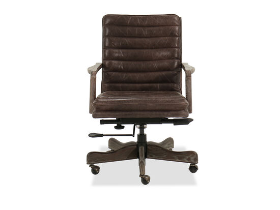 Channel-Quilted Leather Office Chair in Storia