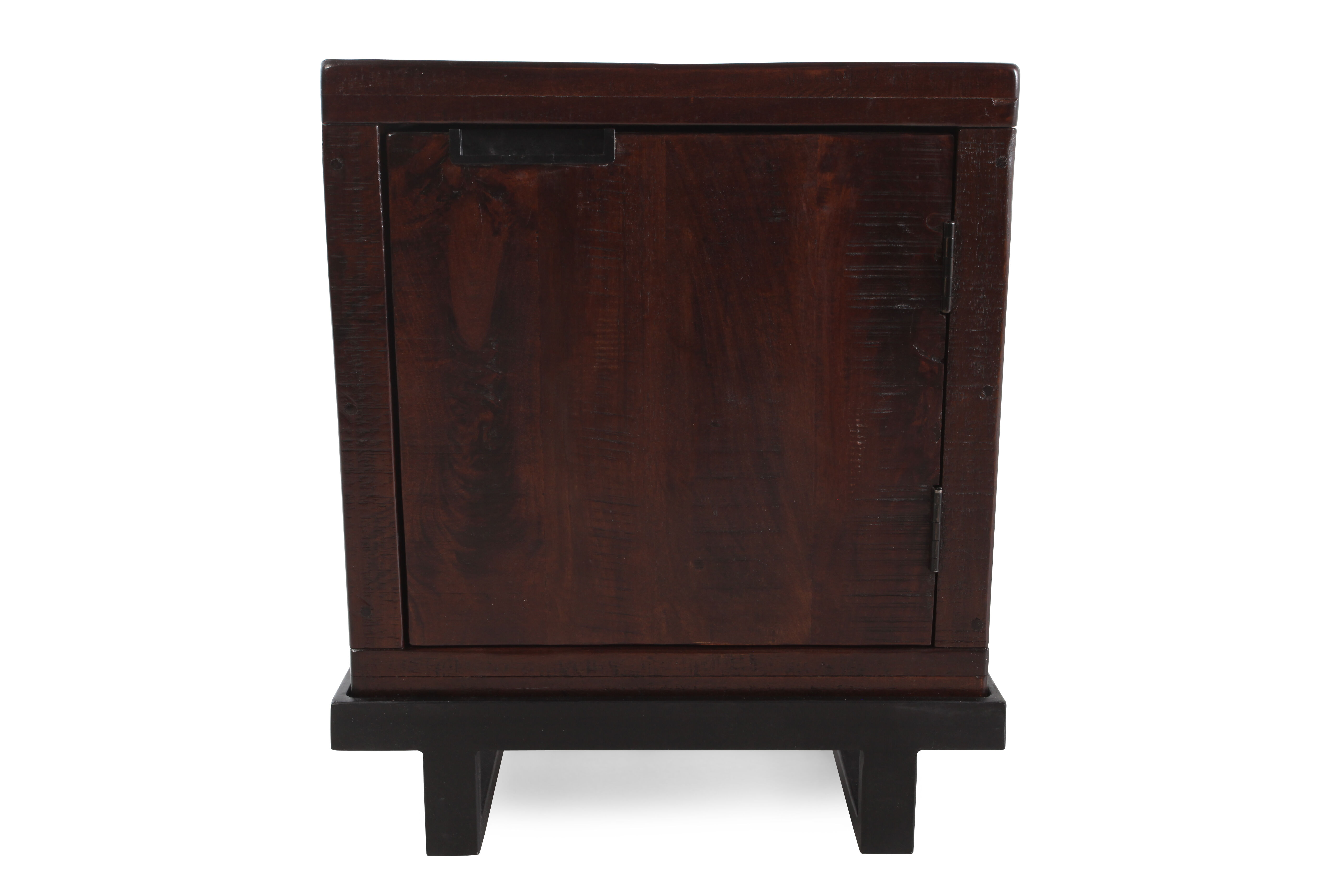 Bon Images Solid Mango End Table In Distressed Dark Brown