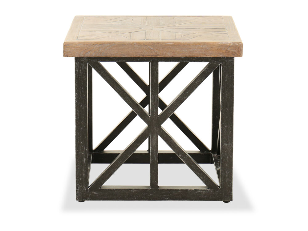 Aluminum Square End Table in Garden Gate