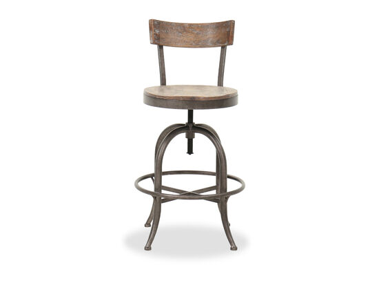 Transitional Adjustable Bar Stool in Bronze