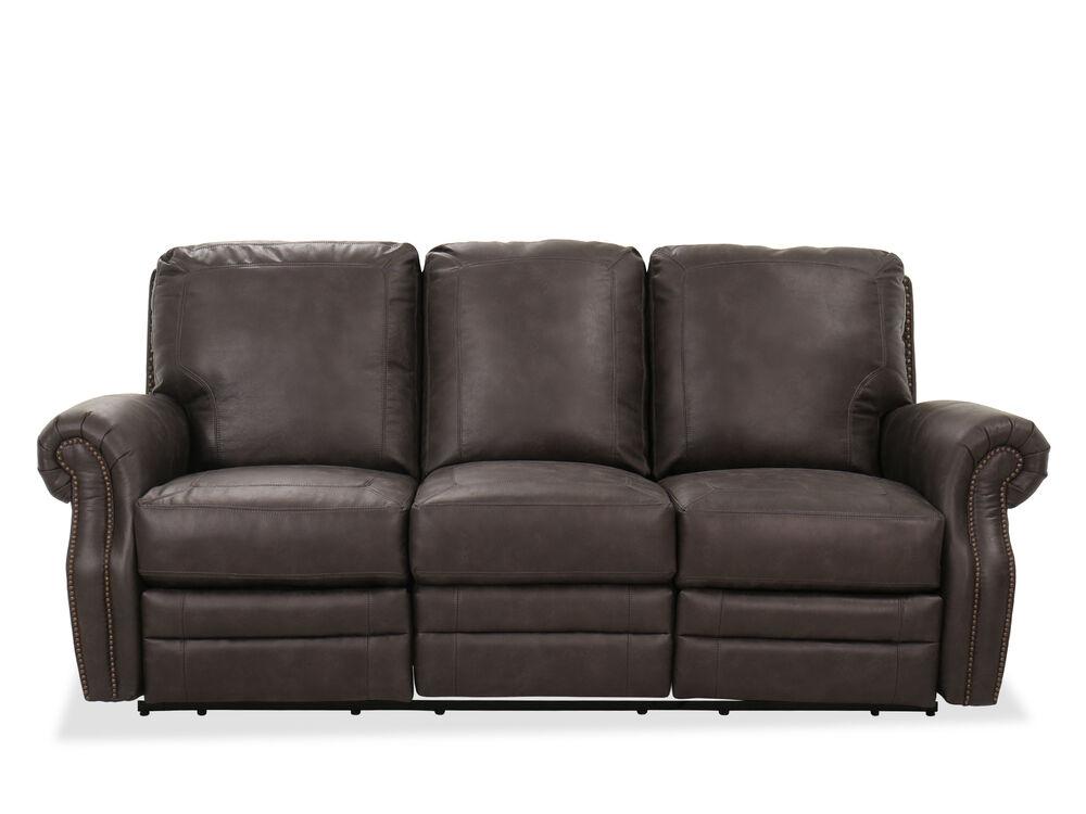 Casual 85 Reclining Sofa In Gray