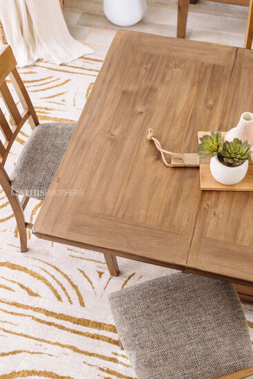 """Casual 60"""" Extendable Counter Table in Dark Brown"""