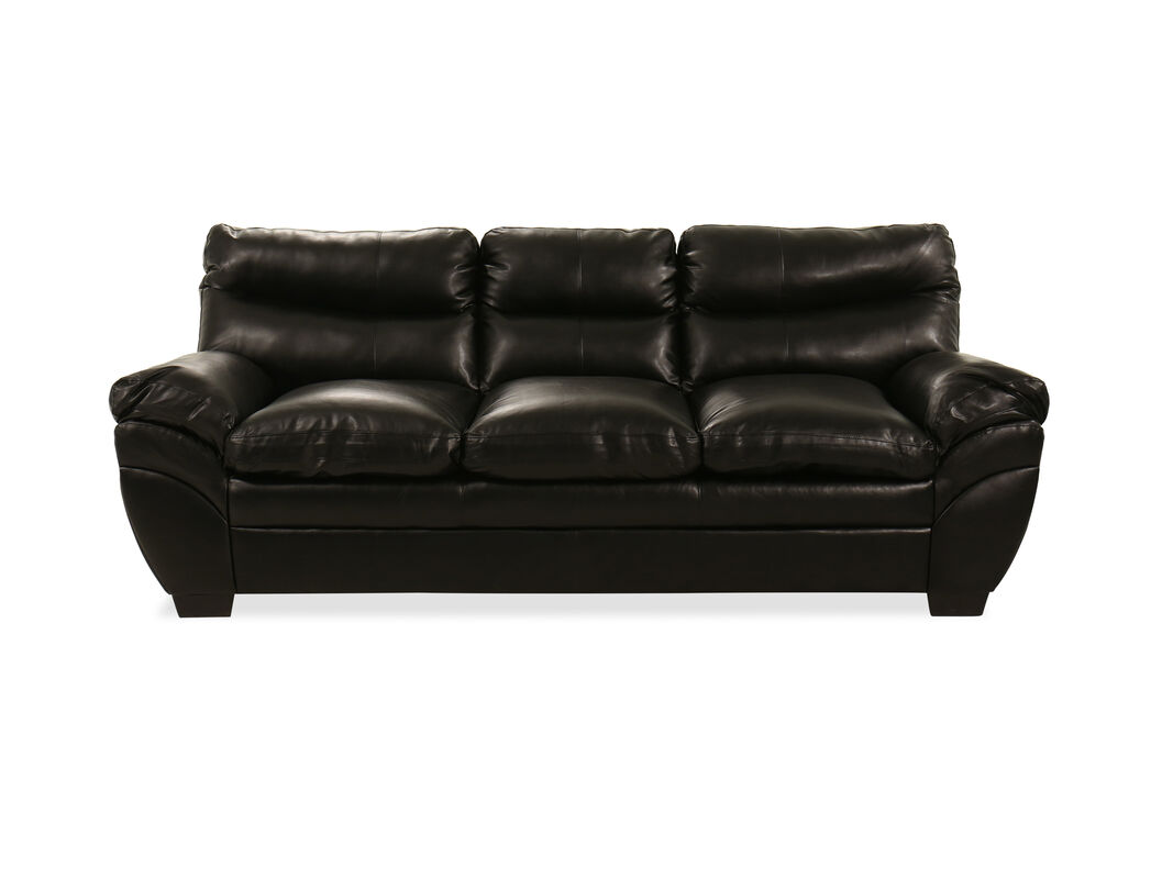 Thanks To The Hardwood And Plywood Frame Construction This Casual Style Leather Sofa Stands Test Of Time