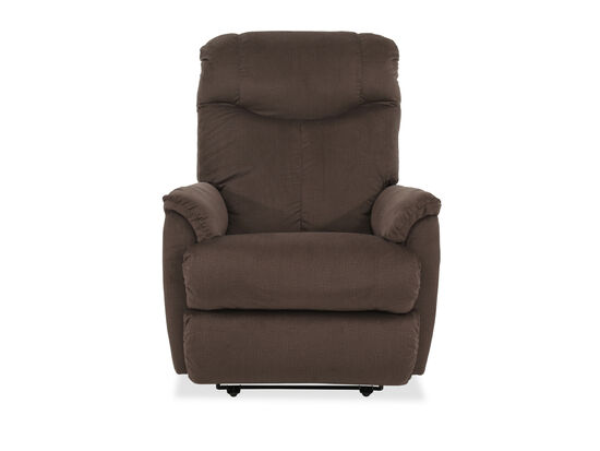 Curved Arms Casual 31.5'' Power Recliner in Brown