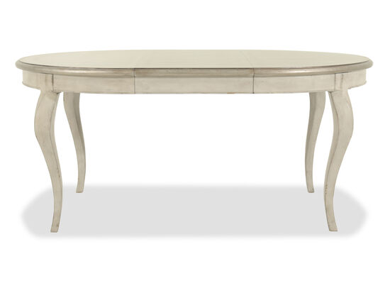 "European Classic 48"" to 68"" Oval Dining Table in White"