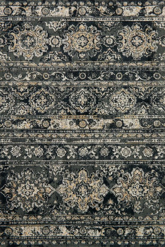 """Transitional 3'-9""""x5'-9"""" Rug in Slate"""