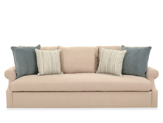 """Pillow Back Casual 99"""" Sofa in Beige"""