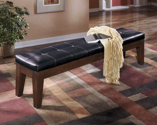 "76.5"" Tufted Casual Bench in Dark Brown"