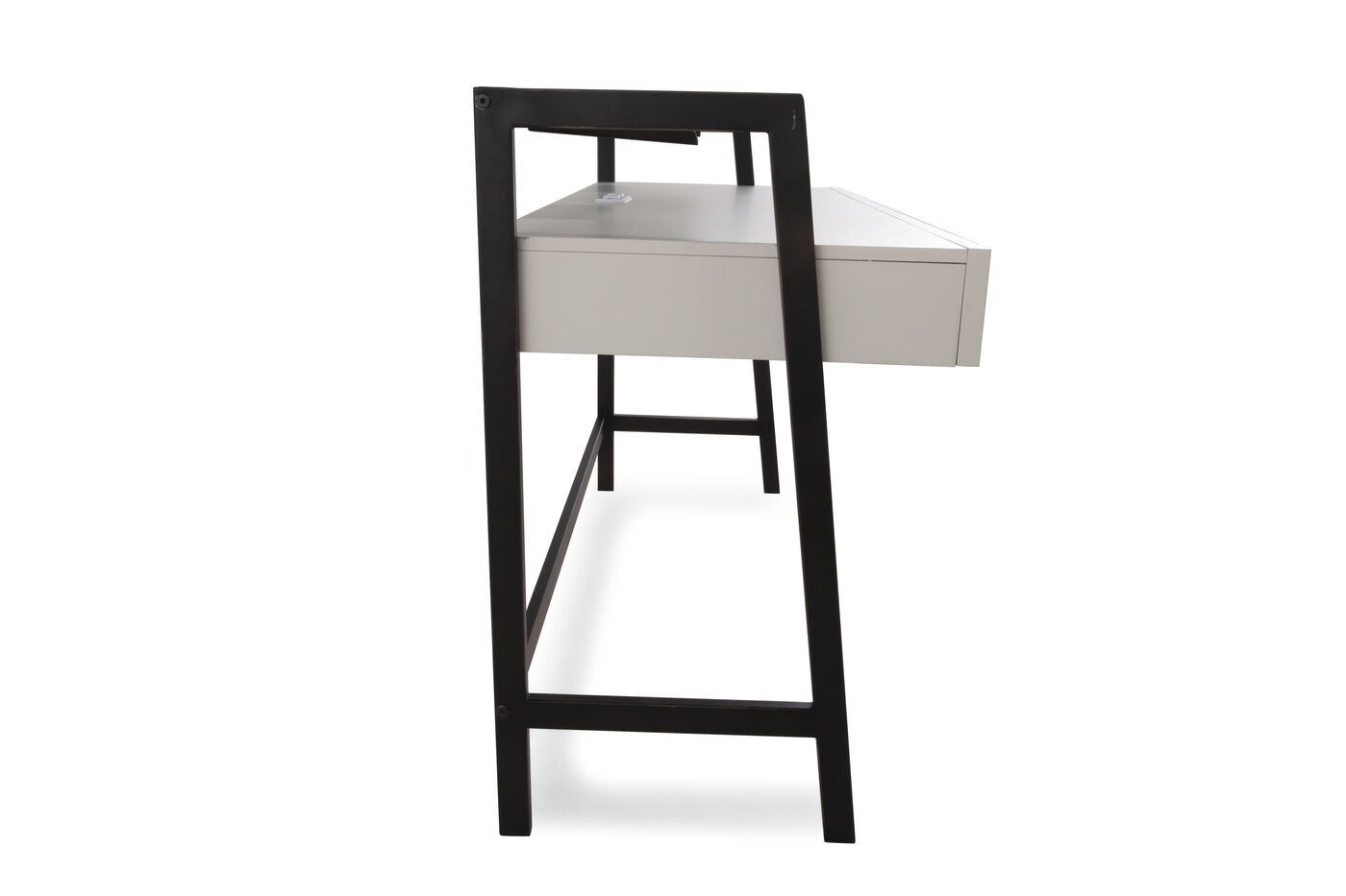 Two-Drawer Contemporary Youth Desk In Light White