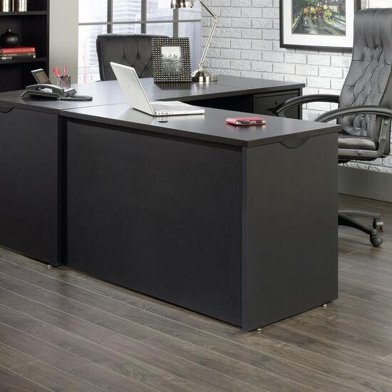 "48"" Contemporary Grommet Hole Desk Return in Bourbon Oak"