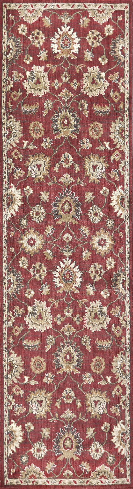 Transitional Power-Loomed 10 x 13 Rectangle Rug in Red