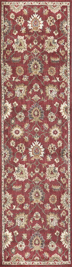 Transitional Power-Loomed 2.6 x 10 Runner Rug in Red