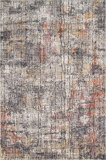 "Loloi Power Loomed 5' x 7'6"" Rug in Graphite/Sunset"