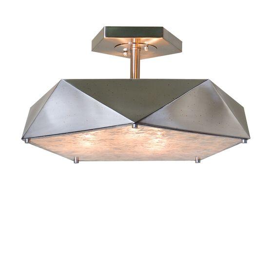 Three-Bulb Semi Flushmount Light in Antique Nickel