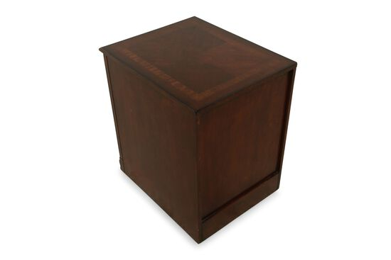 Two-Drawer Traditional Mobile File Cabinet in Medium Brown