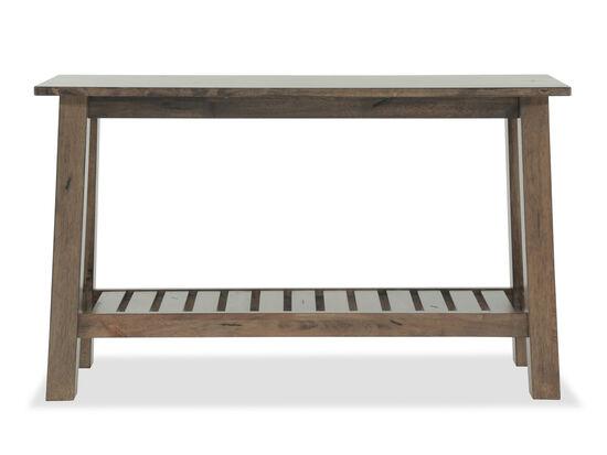 Slatted Shelf Transitional Sofa Table in Caramel