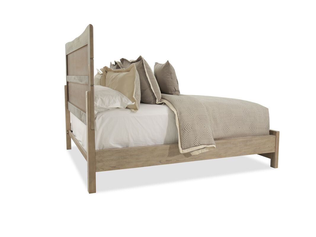 Four-Piece Traditional Bedroom Set in Light Brown | Mathis Brothers ...